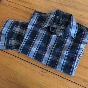 Dockers 16 - 16 1/2 plaid button shirt Large
